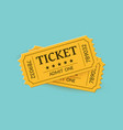 cinema tickets on background retro style vector image
