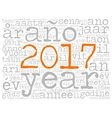 Word cloud 2017 in different languages vector image