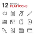 12 page icons vector image vector image