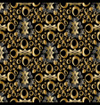 abstract geometric seamless pattern gold vector image