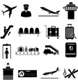 airport icons set vector image