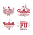 American Football Badges vector image vector image