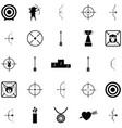 archery icon set vector image