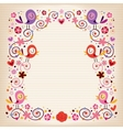 birds and flowers vintage border vector image vector image