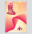 birthday joyful and bright greeting card includes vector image