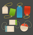 Blank shopping tags with rope template vector image vector image