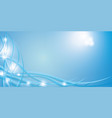 blue background with beautiful smooth lines and vector image vector image