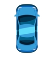Blue car top view icon isometric 3d style vector image vector image