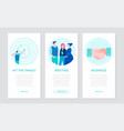 business communication - set of flat design style vector image