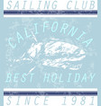 california sailing club tee graphic vector image
