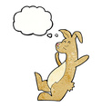 cartoon hare with thought bubble vector image vector image