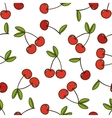 cherry background seamless pattern vector image vector image