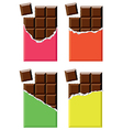 chocolate bars vector image vector image