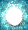 Christmas background with glowing snowflakes vector image vector image