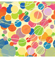 colorful pattern with geometric shapes vector image vector image