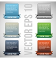 colorful web designing elements vector image