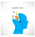 Creative silhouette head background vector image vector image