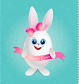 cute female rabbit vector image vector image