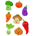 Cute vegetable cartoon vector image vector image