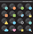 disk dark icons vector image vector image