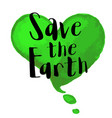 ecological concept for earth day vector image vector image