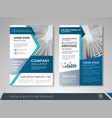 flyer presentation template vector image vector image