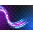 futuristic waves in speed motion neon glowing vector image