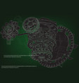 gear mechanism on green vector image vector image