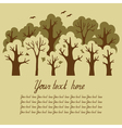 Green deciduous forest vector image vector image