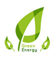 green energy green leaves background image vector image