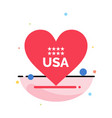 heart love american usa abstract flat color icon vector image vector image
