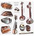 indian instruments vector image vector image
