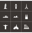landmarks icon set vector image vector image