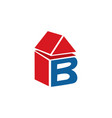 letter b home logo design vector image