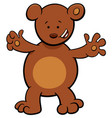 little bear cartoon character vector image vector image