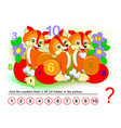 logical puzzle game for kids math exercise vector image vector image