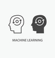 machine learning icon vector image