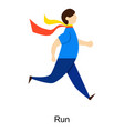man run vector image