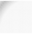 monochrome geometrical halftone diagonal square vector image vector image