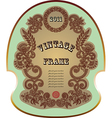original hand draw ornate floral vintage label vector image