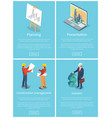 planning collection web vector image