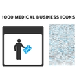 Postman Calendar Page Icon With 1000 Medical vector image vector image