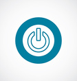 power on icon bold blue circle border vector image vector image