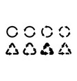 recycling icon set black eco circle and vector image