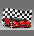 red racing car vector image vector image