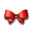Red ribbon bow isolated on vector image vector image