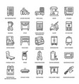 restaurant professional equipment line icons vector image