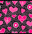 seamless hearts pattern-06 vector image vector image