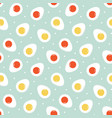 seamless pattern background with boiled eggs vector image vector image