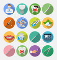 set dental services icons vector image